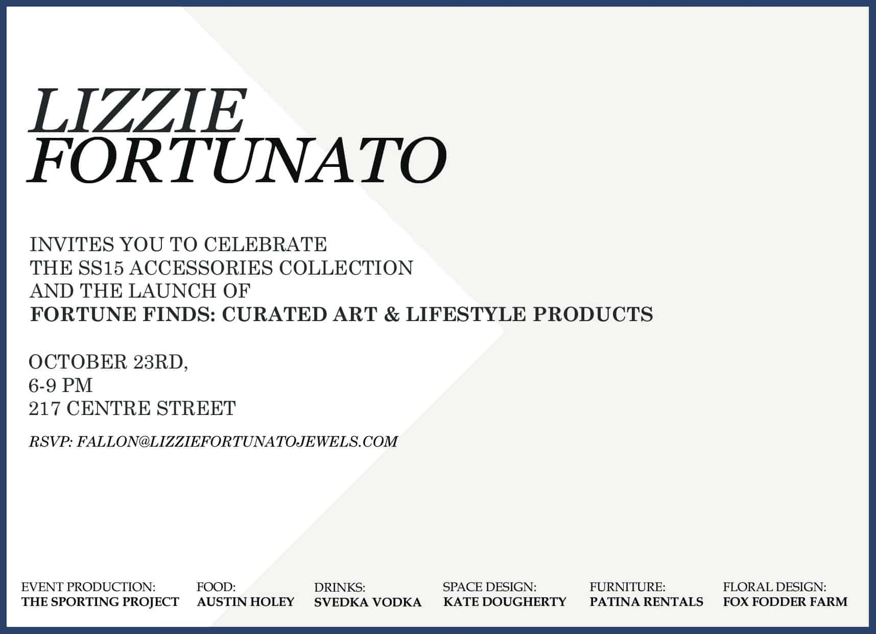 Lizzie Fortunato Fortune Finds invite